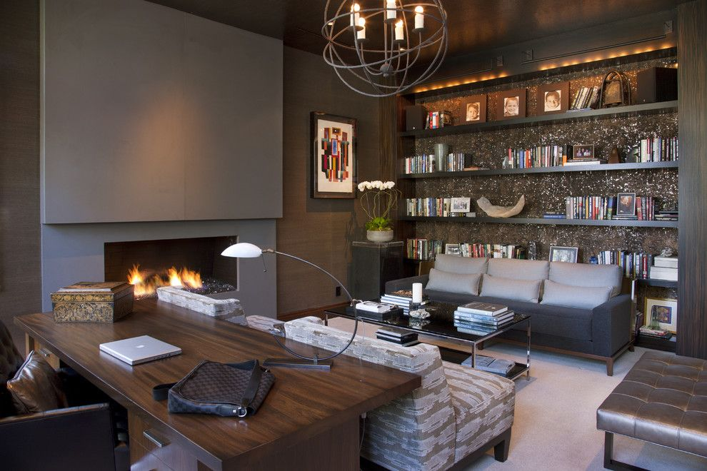 Mor Furniture San Diego for a Contemporary Home Office with a Interior and Hollywood Glamour Meets Modern by Lori Gentile Interior Design