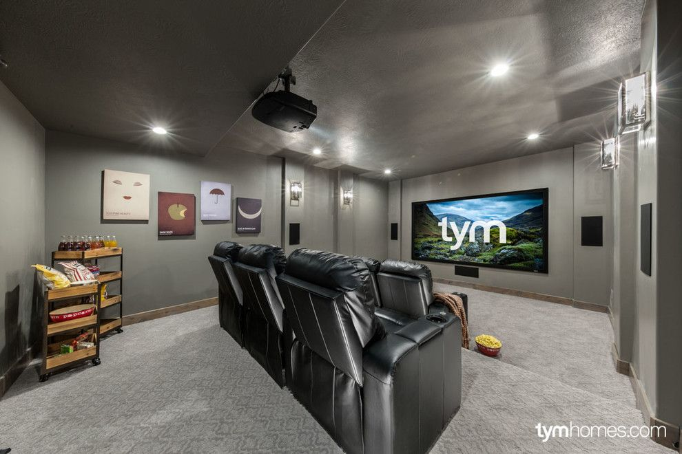 Moreno Valley Theater for a Traditional Home Theater with a Climate Control and