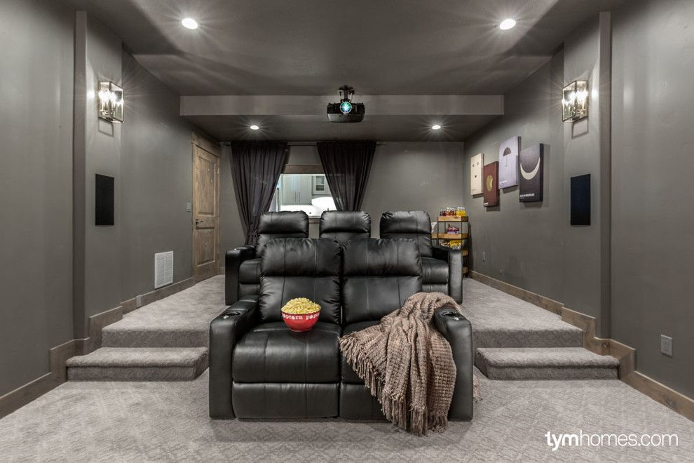 Moreno Valley Theater for a Traditional Home Theater with a Lighting Control and