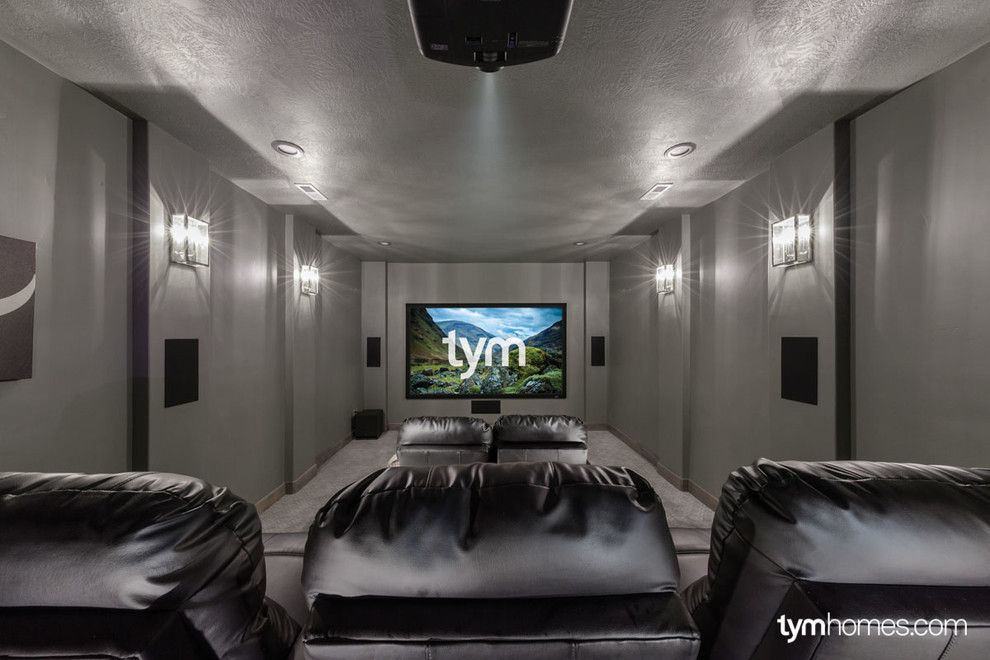 Moreno Valley Theater for a Traditional Home Theater with a Utah Valley Parade of Homes and