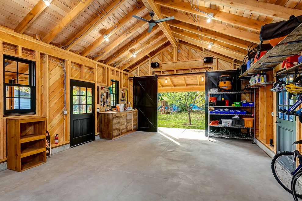 Moscow Building Supply for a Rustic Shed with a Peaked Roof and Historic Garage Remodel by King Building & Remodeling Llc