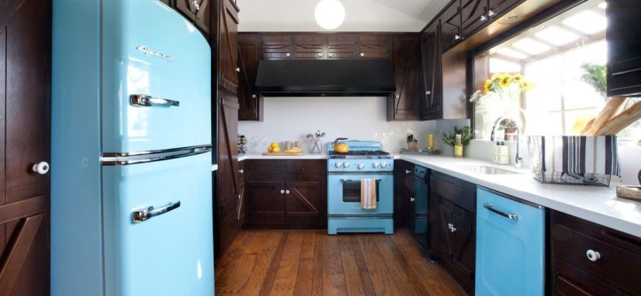 Mountain High Appliance for a Rustic Kitchen with a Sink and Mai by the Cousins
