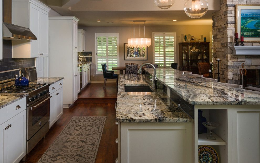 Msi Granite for a Traditional Kitchen with a Bertazzoni Range and Galewood by Soledad Builders, Llc