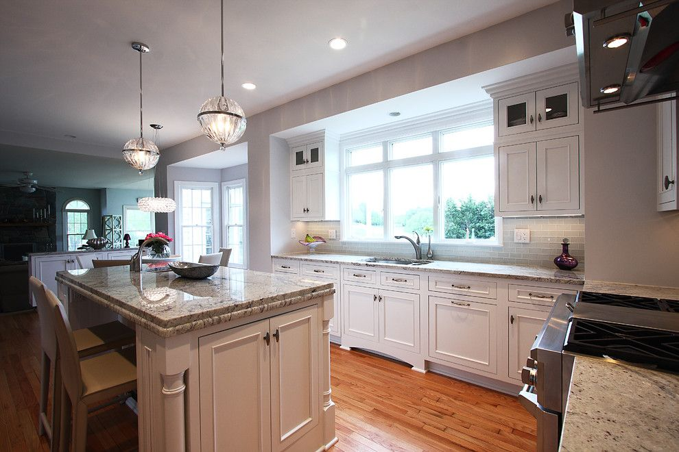 Msi Granite for a Traditional Kitchen with a Pendant Light and Contemporary Lighting + Classic Design by Nvs Remodeling & Design