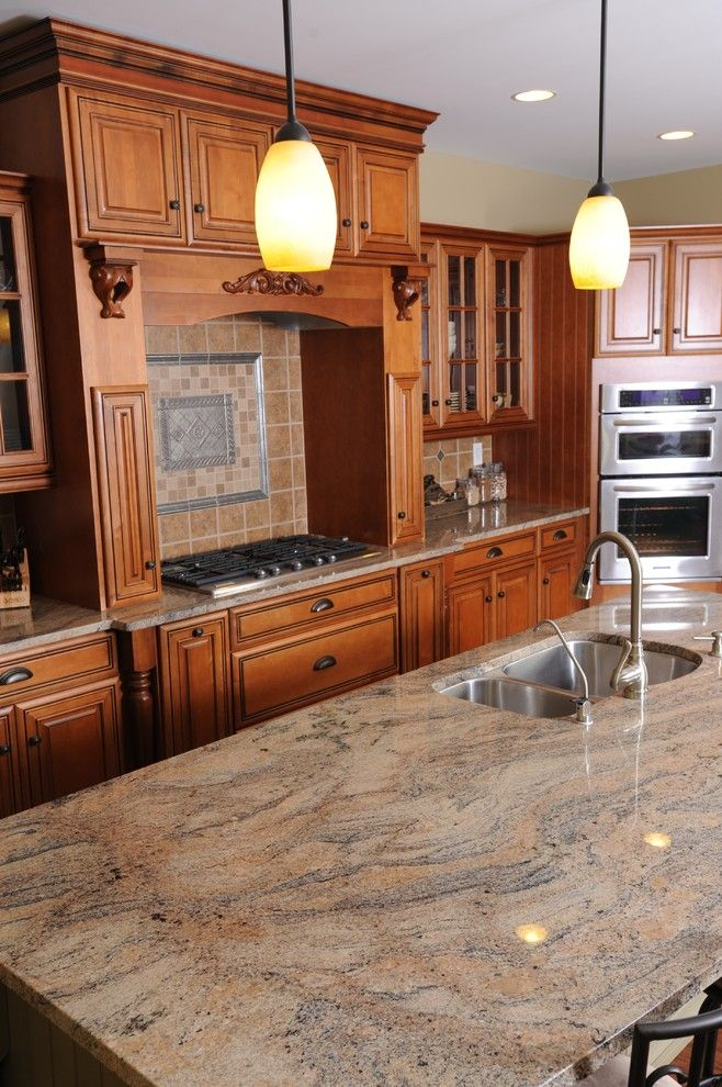 Msi Granite for a Traditional Kitchen with a Range and Kitchens and Bathrooms by Avanti Marble & Granite Inc.