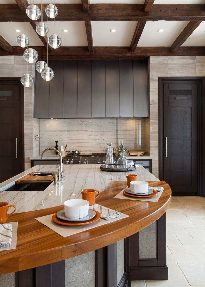 Msi Granite for a Traditional Kitchen with a Wood Countertops and Elegance by Exquisite Kitchen Design