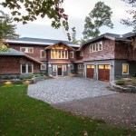 Msi Stone for a Rustic Exterior with a Outdoor Lighting and Great Camp by Phinney Design Group