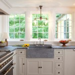 Msi Stone for a Traditional Kitchen with a Sink and South Shore Gambrel by Frank Shirley Architects