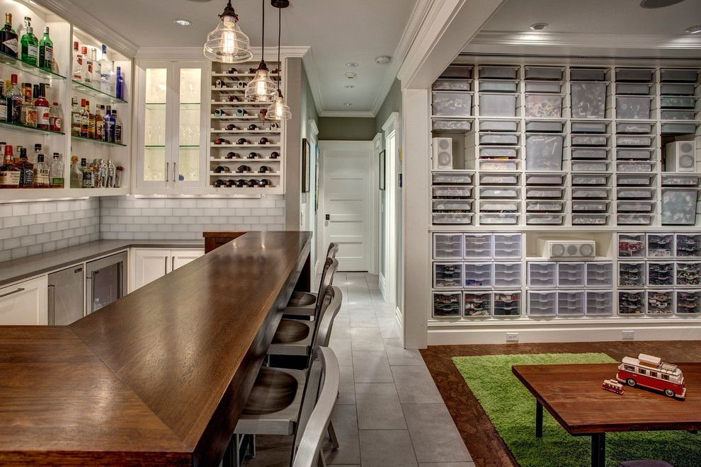 Muji Us for a Craftsman Basement with a Pendant Lights and Basement Bar and Lego Room by Board and Vellum