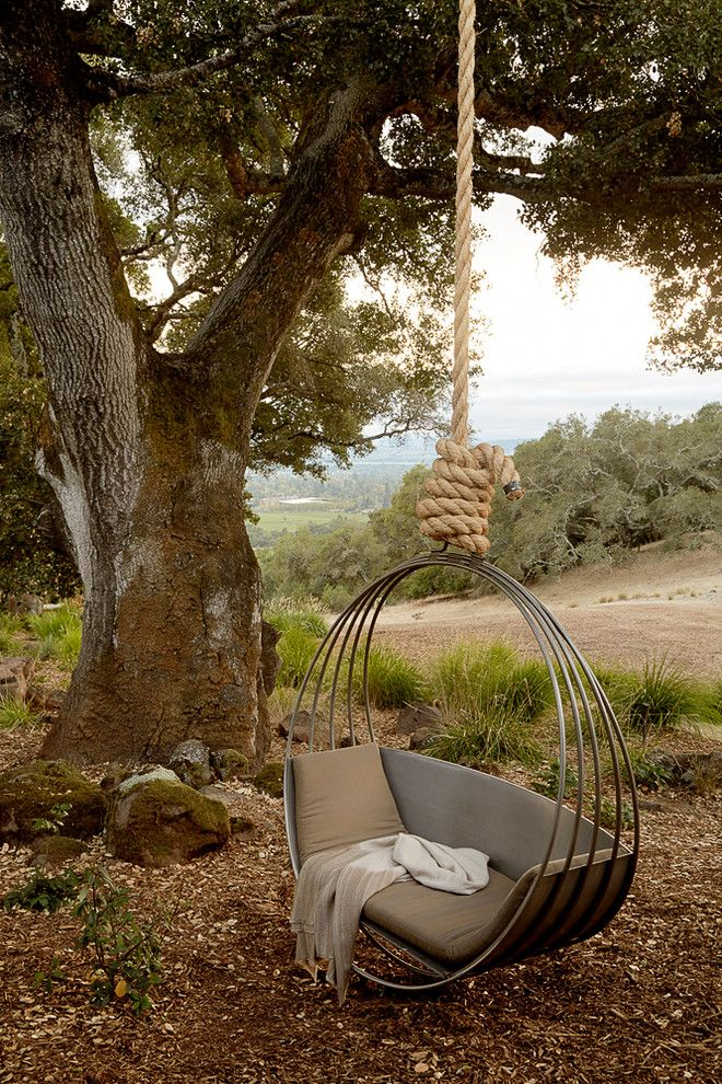 Mulch Masters for a Mediterranean Landscape with a Relaxing and Sonoma by Ken Linsteadt Architects