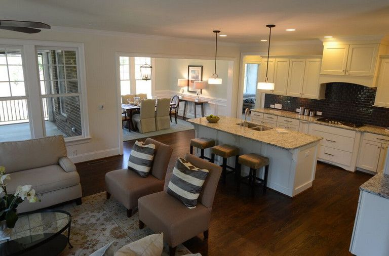 Multigenerational Homes for a Contemporary Kitchen with a New Home and River Run at Davidson, NC by Evans Coghill Homes