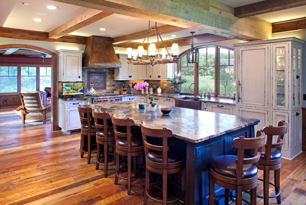 Muska Lighting for a Farmhouse Kitchen with a Cozy and French Country Cottage   Total Home Remodel by Bob Michels Construction, Inc.