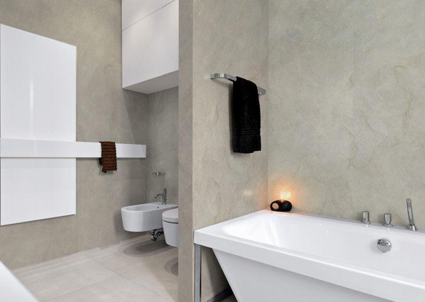 Mystic Granite for a Modern Bathroom with a Perla Venata and Exotic Stone Installs by Mystic Granite & Marble