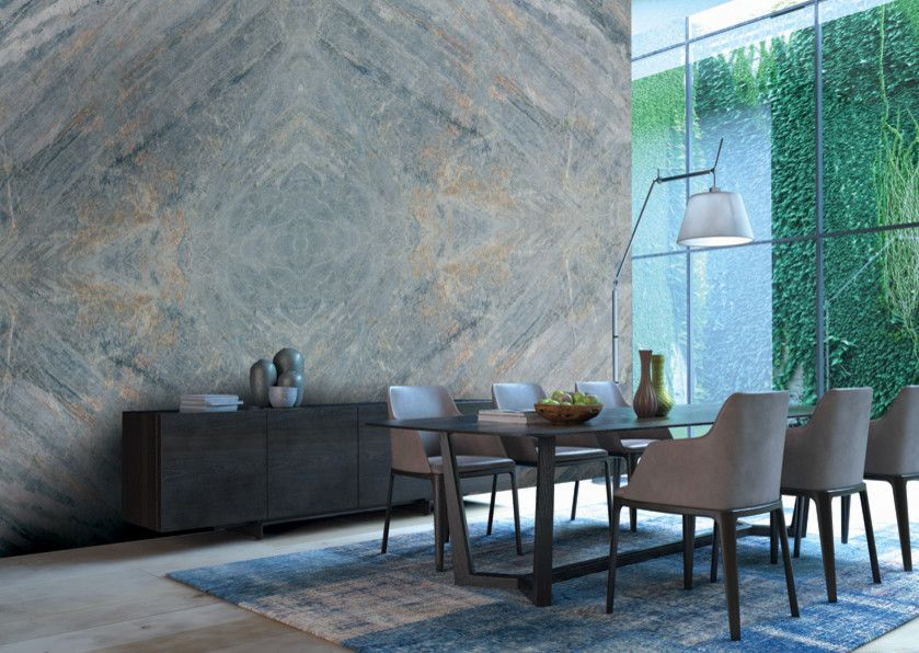 Mystic Granite for a Modern Dining Room with a Ciello and Exotic Stone Installs by Mystic Granite & Marble