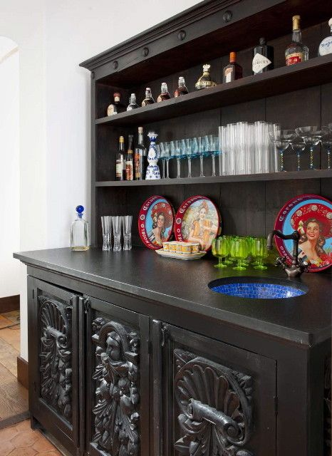 Nadeau Furniture for a Southwestern Hall with a Countertop Accessories and Ashley Astleford by Astleford Interiors, Inc.