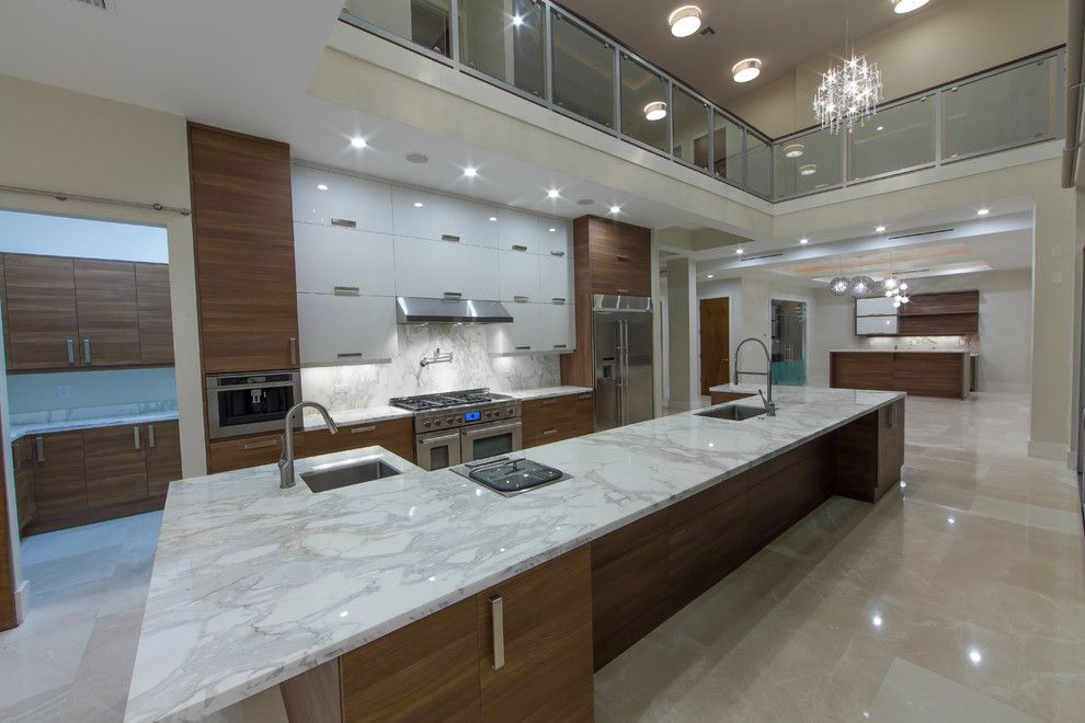 Nadeau Miami for a Modern Kitchen with a Stone House House and 4th Key by Kevin Akey  Azd Associates   Florida