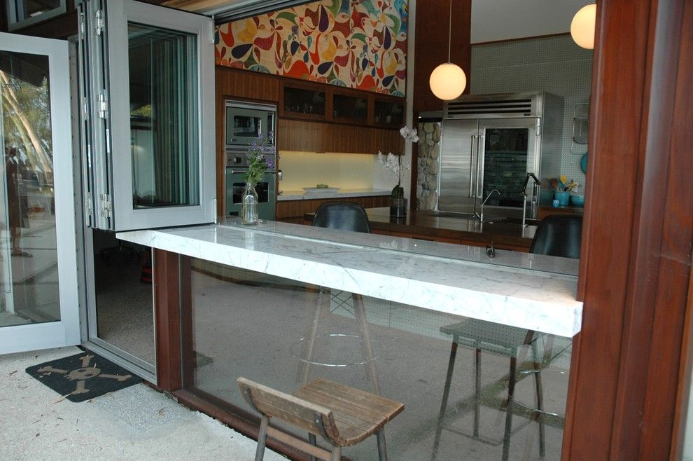 Nanawall Cost for a Midcentury Kitchen with a Midcentury and Midcentury Riviera by Native Son Design Studio