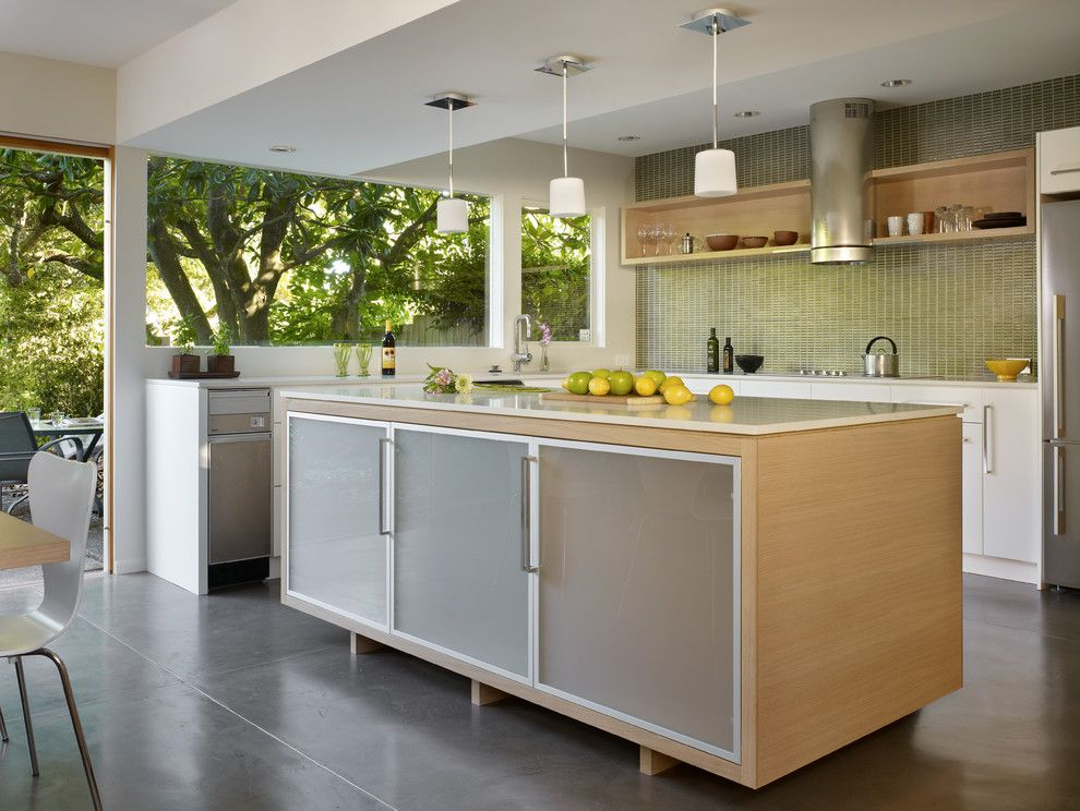 Nanawall Cost for a Modern Kitchen with a Ikea Cabients and a Paul Kirk Update by Dl Rees Contracting, Llc