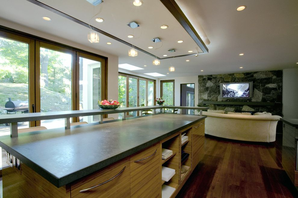 Nanawall Cost for a Modern Kitchen with a Westchester and Marissa's Kitchen by Fivecat Studio | Architecture