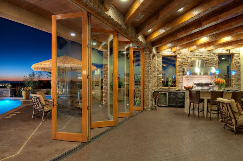 Nanawall Cost for a Traditional Patio with a Traditional and Windows and Doors for New Construction in Boise by View Point Windows, Inc.