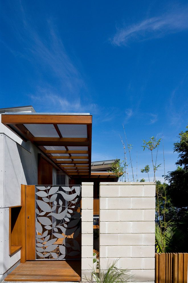 Natec for a Contemporary Entry with a Concrete Block Siding and Manly 09 by Watershed Design