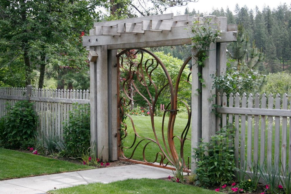Natec for a Contemporary Landscape with a Wrought Metal and Colbert Getaway by Land Expressions Llc