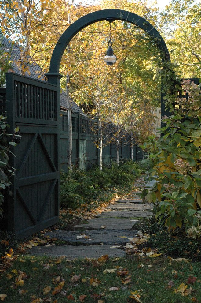Natec for a Traditional Landscape with a Grass and Garden Gate by Timothy Lee Landscape Design