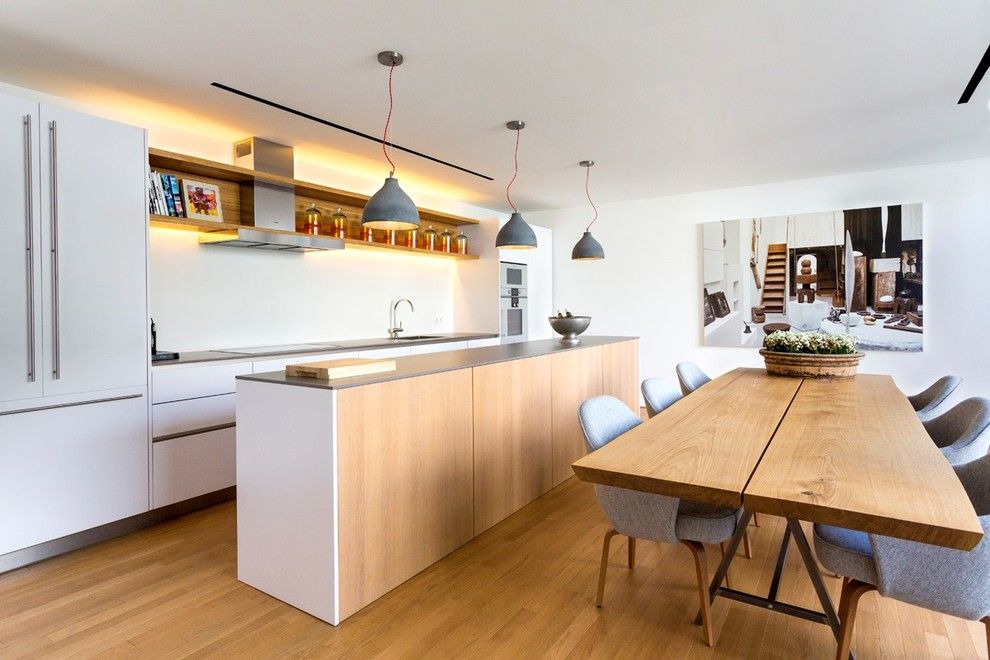 Neolith Countertops for a Scandinavian Kitchen with a Suelos De Madera and Contemporary Kitchen by Neolith by Thesize