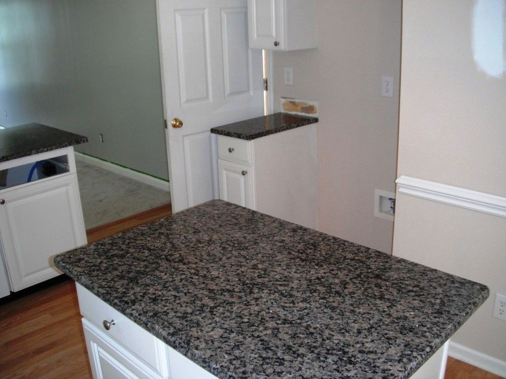 New Caledonia Granite for a Traditional Kitchen with a Caledonia Granite and Caledonia Granite for White Cabinets by Fireplace & Granite Distributors