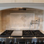 New Venetian Gold Granite for a Traditional Kitchen with a 3x6 Subway Tile and Almond Beige Marble Collection by Best Tile