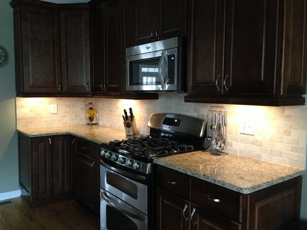 New Venetian Gold Granite for a Traditional Kitchen with a New Venetian Gold and New Kitchen Remodel by Debra Wright