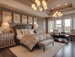 Newmark Homes for a Traditional Bedroom with a Floor to Ceiling Windows and Newmark Homes - Master's Retreat - Villa Rotunda by Newmark Homes