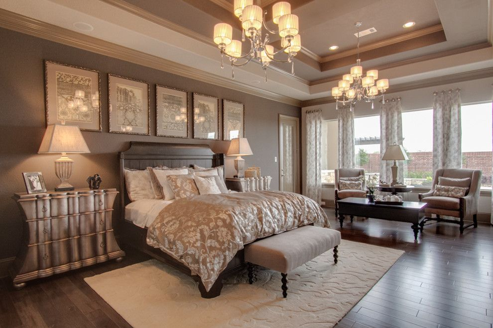 Newmark Homes for a Traditional Bedroom with a Floor to Ceiling Windows and Newmark Homes   Master's Retreat   Villa Rotunda by Newmark Homes