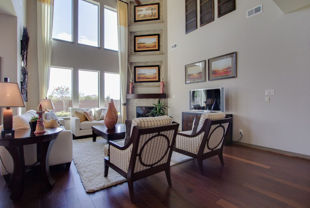Newmark Homes for a Traditional Family Room with a Floor to Ceiling Windows and Newmark Homes   Family Room   San Chapelle by Newmark Homes