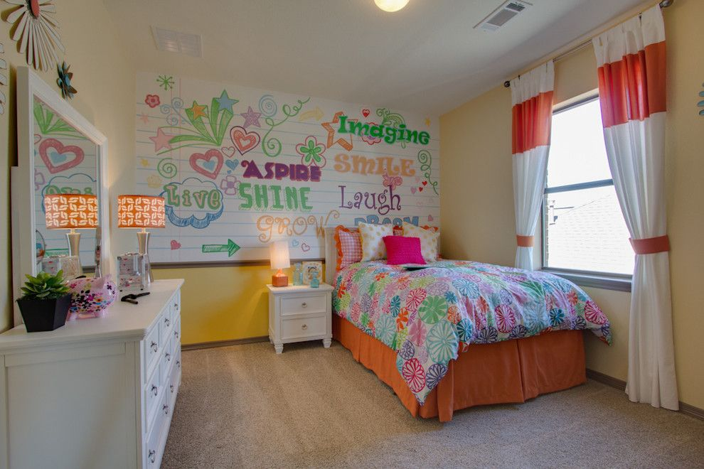 Newmark Homes for a Traditional Kids with a Ceiling Detail and Newmark Homes   Secondary Bedrooms   San Chapelle by Newmark Homes