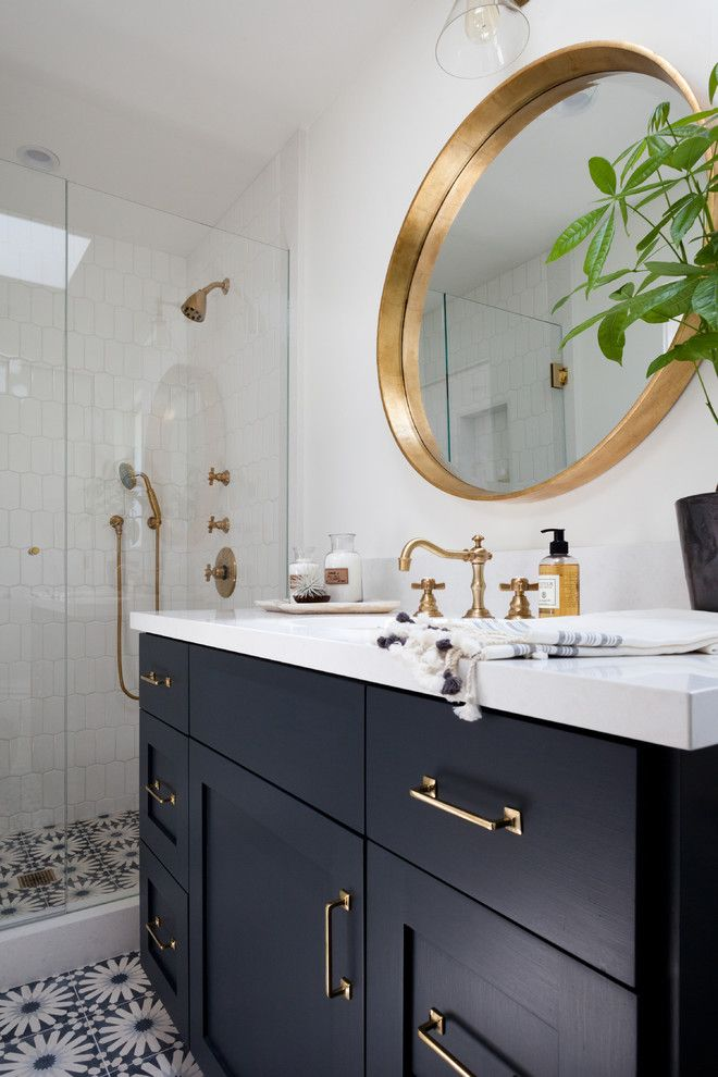 Newport Brass for a  Spaces with a  and Boho Retreat by Kirsten Marie Inc, KMI