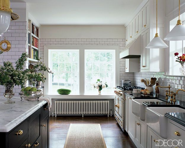 Newport Brass for a  Spaces with a  and Kitchen Design: White Kitchens by Gracefulvintage