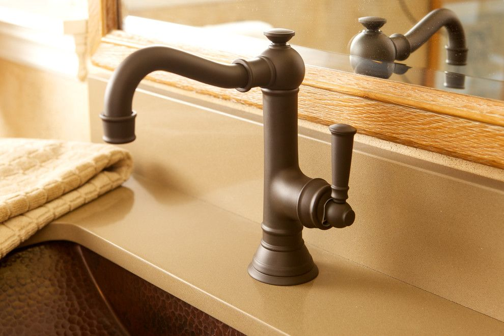 Newport Brass for a Traditional Bathroom with a Bathroom Faucet and Jacobean Single Hole Faucet by Newport Brass