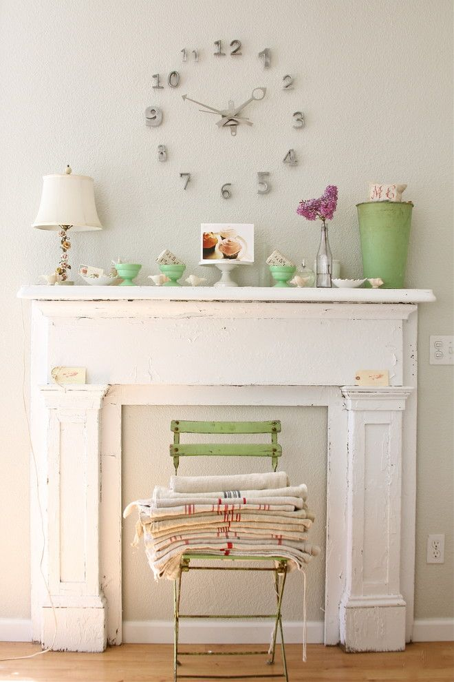 Nhic for a Shabby Chic Style Living Room with a French and Dreamy Whites by Dreamy Whites
