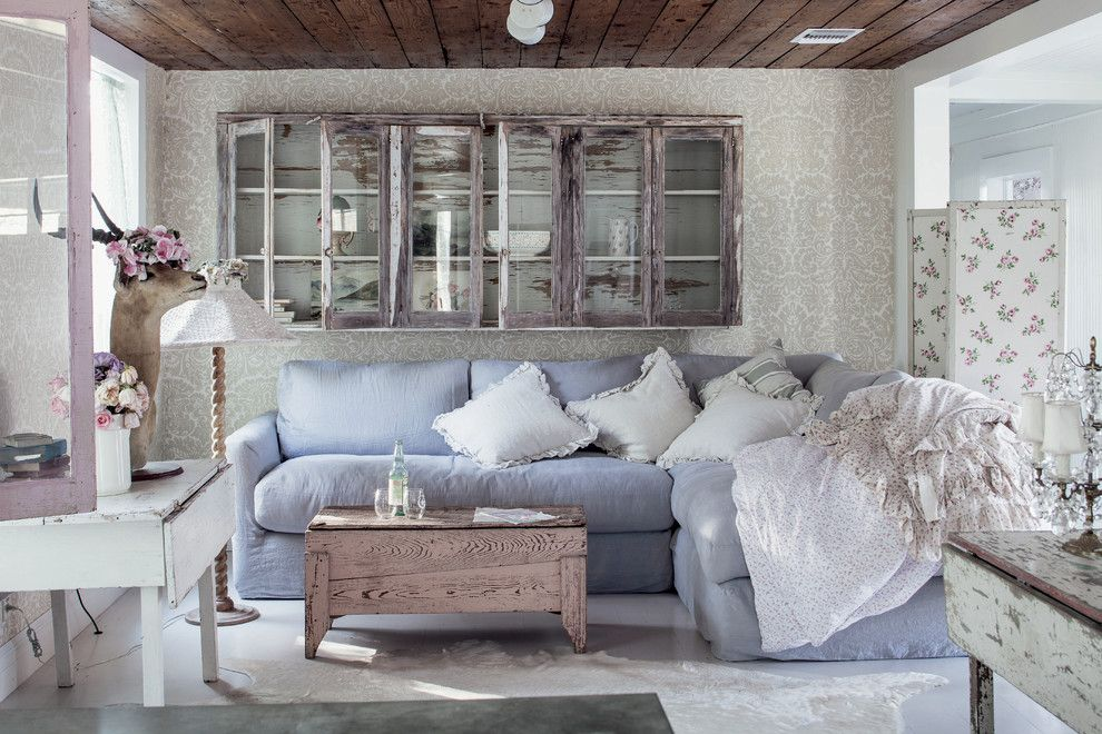 Nhic for a Shabby Chic Style Living Room with a Shabby Chic and the Prairie by Rachel Ashwell by Amy Neunsinger