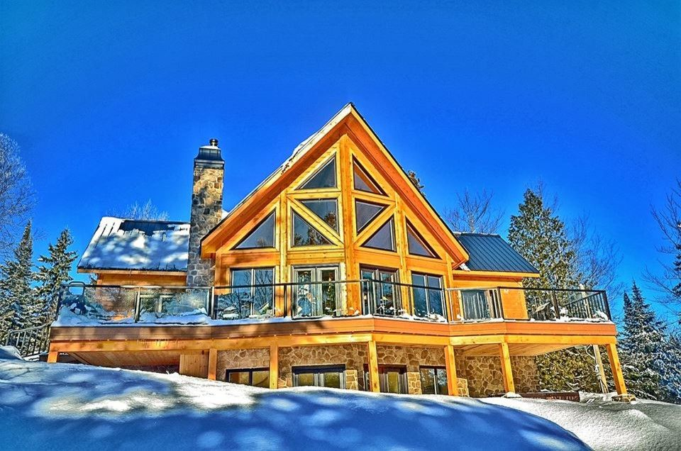 Niblock Homes for a Rustic Spaces with a Christmas and Timber Block Log Home Photos by Timber Block Homes