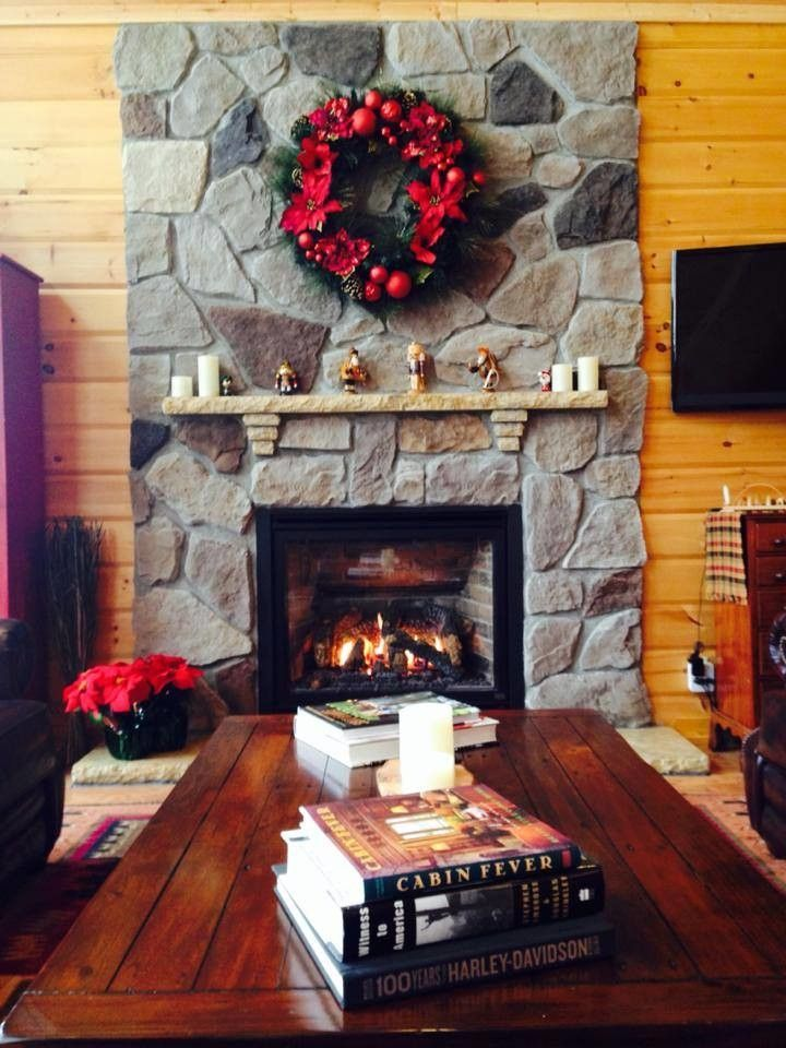Niblock Homes for a Rustic Spaces with a Fireplace Accessories and Timber Block Log Home Photos by Timber Block Homes