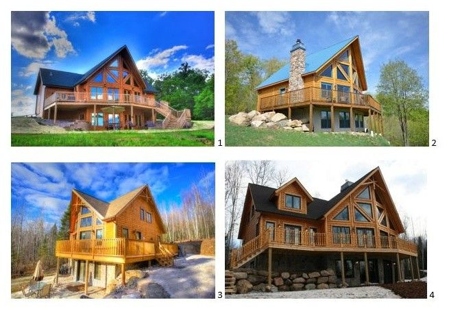 Niblock Homes for a Rustic Spaces with a Log Cabin Home Pictures and Timber Block Log Home Photos by Timber Block Homes