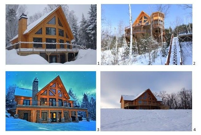 Niblock Homes for a Rustic Spaces with a Winter and Timber Block Log Home Photos by Timber Block Homes