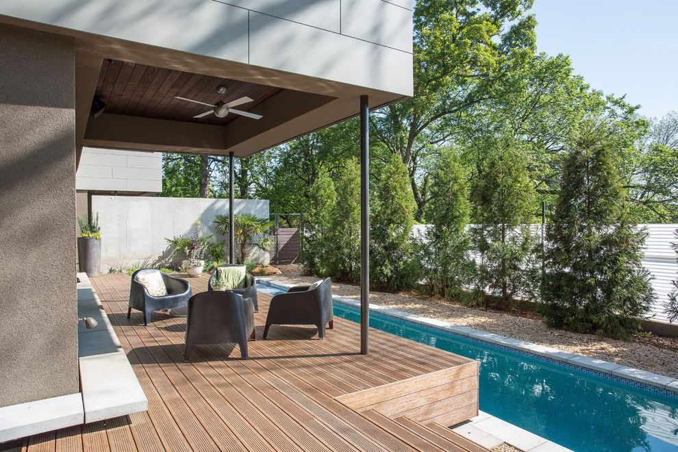 Nichiha for a Contemporary Deck with a Hearth and 765 Studio/residence, a Modern Residence in Atlanta, Georgia by Tac Studios, Architects