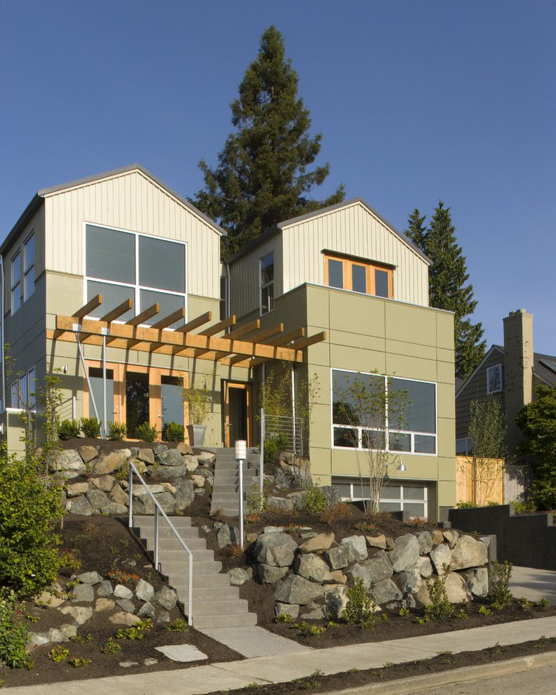 Nichiha for a Contemporary Exterior with a Mixed Exterior and View Ridge Residence by Rhodes Architecture + Light