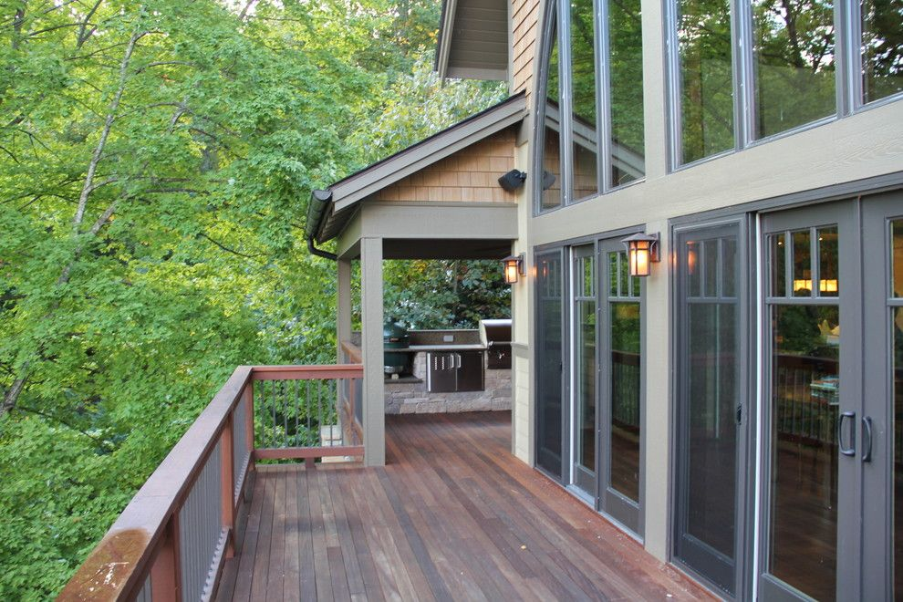 Nichiha for a Craftsman Deck with a Outdoor Dining and Bertsch Furimsky by Living Stone Construction, Inc.
