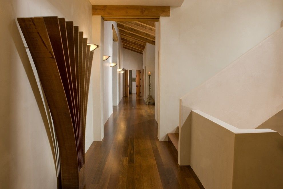 Nichols Lumber for a Contemporary Spaces with a Long Corridor and Gallery by Saint Dizier Design