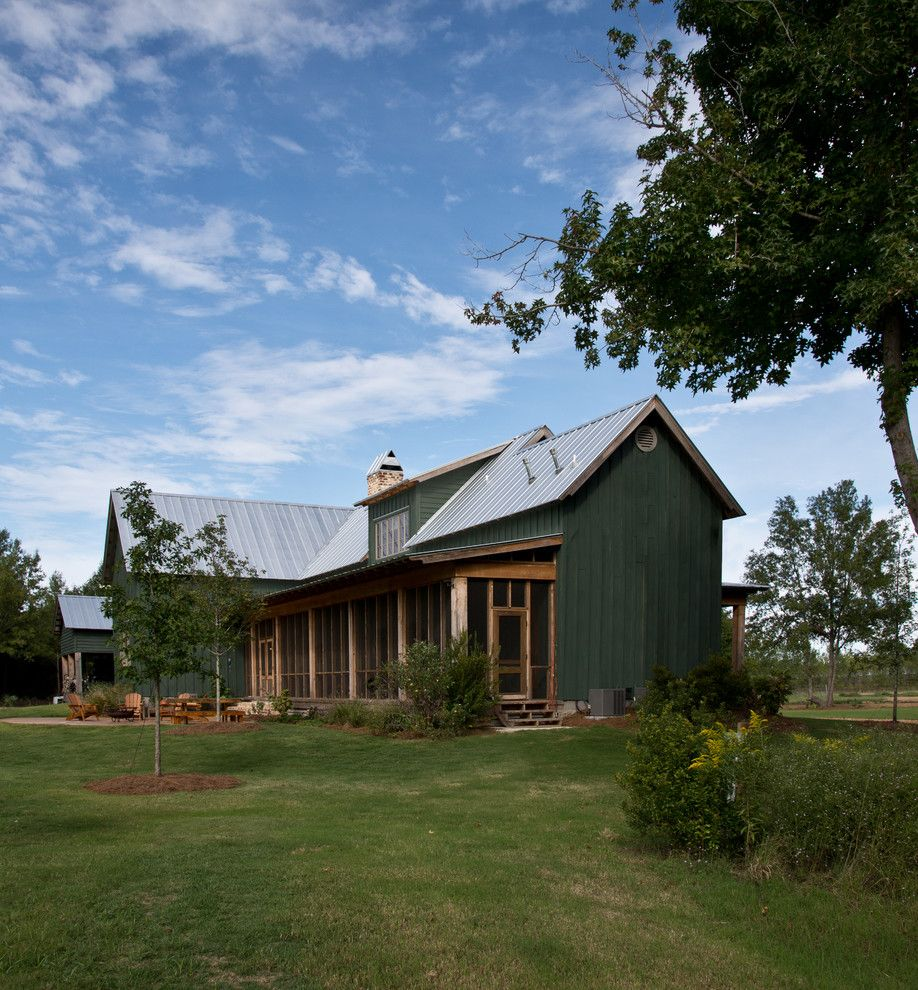 Nichols Lumber for a Farmhouse Exterior with a Cross Gable Roof and Sunflower Farm Cabin by Beard + Riser Architects