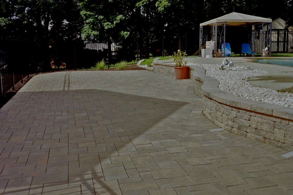 Nicolock Pavers for a  Spaces with a Hardscape Maintenance and Paver Patios by Kingdom Landscaping